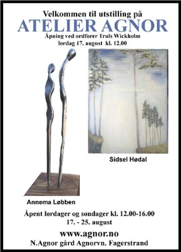 Utstillingsplakat, Sidsel Hødal og Annema Løbben